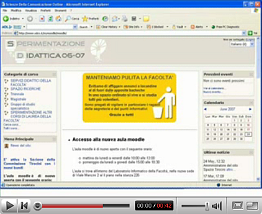 test dello screenreader JAWS su piattaforma Moodle